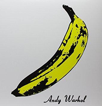 Capa do primeiro álbum da banda Velvet Underground (1967), com estampa de Andy Warhol